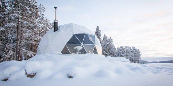 Hébergement dôme Laponie